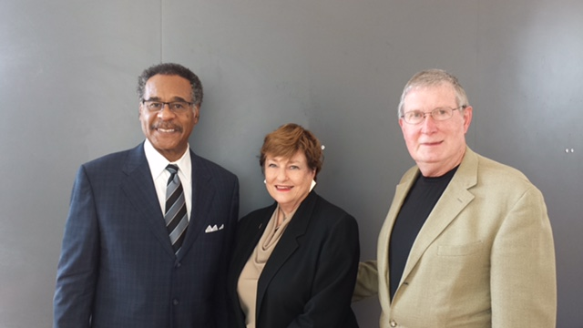 Congressman Cleaver with Elaine Frye and Don Dickey of the National Association of Insurance and Financial Advisors (NAIFA).