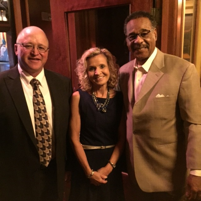 Mark DeShon, Sherry Jones of the Farm Credit Council with Congressman Cleaver